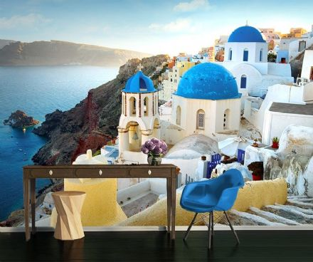 Santorini in Greece - seacoast wall mural